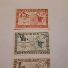 Monedas locales: BILLETES LOCALES POLÁN (TOLEDO) 25 Y 50 CTS Y 1 PTA. SIN CIRCULAR GUERRA CIVIL.. Lote 246016125