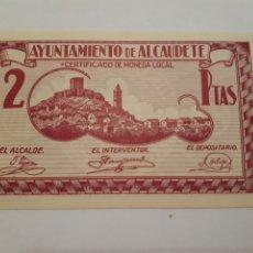 Monedas locales: BILLETES LOCALES BILLETE 2 PTA SIN CIRCULAR ALCAUDETE JAÉN GUERRA CIVIL.. Lote 246019075