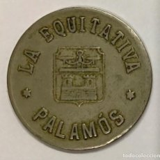 """Monedas locales: COOPERATIVA """" LA EQUITATIVA"""" PALAMÓS ( GIRONA) - 5 PESETAS. Lote 246120605"""