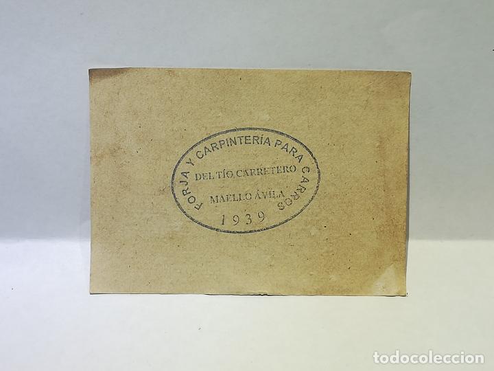 Monedas locales: FORJA Y CARPINTERIA DEL TIO CARRETERO. VALE DE 25 CENTIMOS. 1939. MAELLO, AVILA. VER DORSO - Foto 2 - 246156265