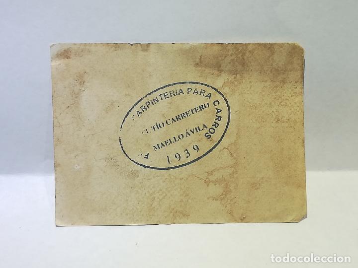 Monedas locales: TALLER DE FORJA Y CARPINTERIA DEL TIO CARRETERO. VALE DE 10 CENTIMOS. 1939. MAELLO, AVILA. VER DORSO - Foto 2 - 246157230