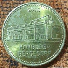 Monedas locales: MONEDA TOKEN 1 BERGEDORFER MARK HAMBURG BERGEDORF 2013. Lote 246277150