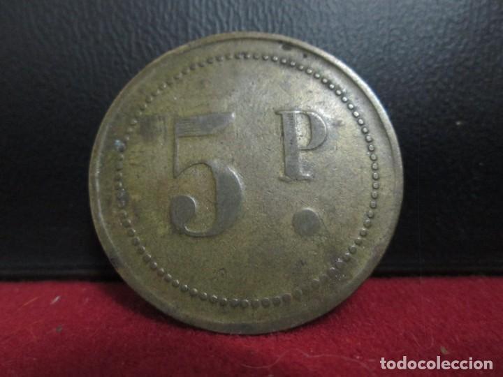 FICHA 5 PESETAS EN LAS DOS CARAS COSPEL GRANDE (Numismática - España Modernas y Contemporáneas - Locales y Fichas Dinerarias y Comerciales)