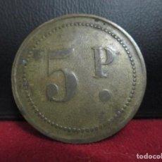 Monedas locales: FICHA 5 PESETAS EN LAS DOS CARAS COSPEL GRANDE. Lote 246714250