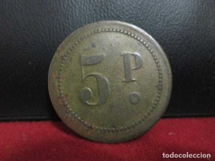 Monedas locales: FICHA 5 PESETAS EN LAS DOS CARAS COSPEL GRANDE - Foto 2 - 246714250