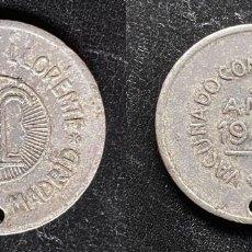 Monedas locales: FICHA AÑO 1943 INSTITUTO LLORENTE - MADRID - VACUNADO CONTRA LA RABIA. Lote 246733815