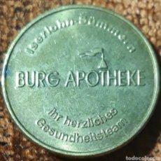 Monedas locales: MONEDA TOKEN APO GOLD BURG APOTHEKE. Lote 246749945