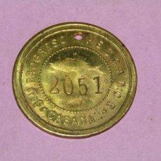 Monedas locales: ANTIGUA MONEDA DE 5 PESETAS SOCIEDAD EL PROGRESO PESCADOR DE EL CABAÑAL DE VALENCIA 1902-1924. Lote 246866440