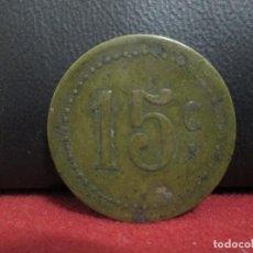 Monedas locales: FICHA COMERCIAL 15 CENTIMOS. Lote 247297085