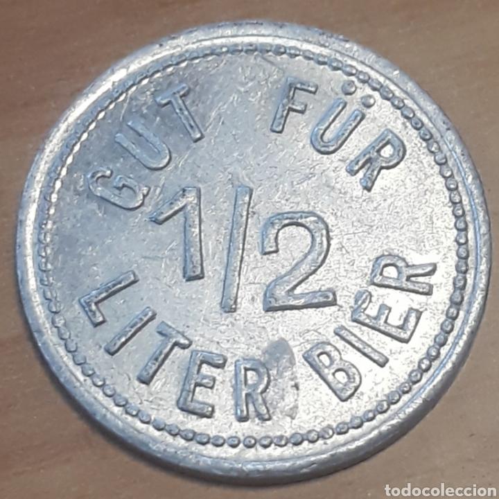 Monedas locales: Moneda token vale por 1/2 litro de cerveza Gut Für Liter Bier - Foto 2 - 247331985