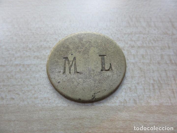 Monedas locales: Ficha de 1 R Posible finales S XIX o principios XX - Foto 2 - 247358100