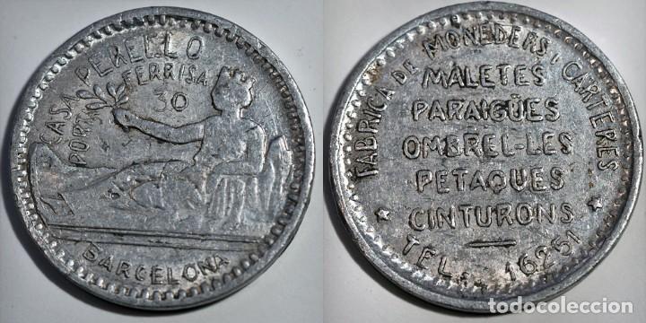 CASA PERELLO - PORTA FERRISA 30 - BARCELONA (Numismática - España Modernas y Contemporáneas - Locales y Fichas Dinerarias y Comerciales)