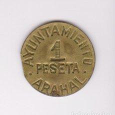 Monedas locales: MONEDAS GUERRA CIVIL - ARAHAL - (SEVILLA) 1 PESETA - S/F.- PG-231 (MBC). Lote 248789065