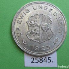 Monedas locales: FICHA, SCHLESWIG HOLSTEIN ALEMANIA, 10/100 GUTSCHRIFTSMARKE,1923, MONEDA DE NECESIDAD, TOKEN, JETÓN. Lote 251084095