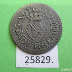 Monedas locales: FICHA BREMEN ALEMANIA,10 PFENNIG 1920, MONEDA DE NECESIDAD, TOKEN, JETÓN. Lote 251084765