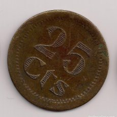 Monedas locales: FICHA 25 CTS TIPO MONEDAS DE PUEBLA DE CAZALLA. Lote 249146835