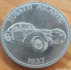 Monedas locales: MONEDA TOKEN SHELL FICHA TÉCNICA BUGATTI ATLANTIC 1937. Lote 252124150