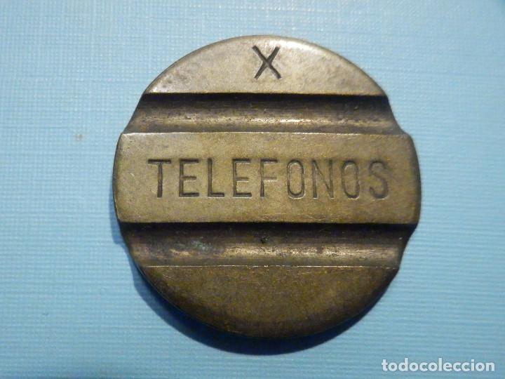 ANTIGUA FICHA PARA CABINAS - TELEFONOS - X - CABINAS - TELEFÓNICA (Numismática - España Modernas y Contemporáneas - Locales y Fichas Dinerarias y Comerciales)
