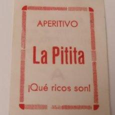 Monedas locales: APERITIVO LA PITITA. PEQUEÑO TICKET PUBLICITARIO Y VALE.. Lote 253933835