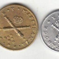 Monedas locales: FICHAS: PARQUE Y MAESTRANZA ( ARTILLERIA ) ( SEVILLA ) - SERIE 1-5-25-50 PESETAS. Lote 254266810