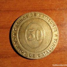 Monedas locales: CASINOS DE CATALUNYA FICHA DE 50. Lote 254919755