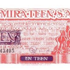 Monedas locales: BILLETE DE 1 TEEN DEL AÑO 1968 AUTORIZADO POR F.N.M.T. - 1 TEEN = 5 PTAS - SIN CIRCULAR.. Lote 256152850
