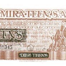 Monedas locales: BILLETE DE 1O TEENS DEL AÑO 1968 AUTORIZADO POR F.N.M.T. - 1 TEEN = 5 PTAS - SIN CIRCULAR.. Lote 256154560