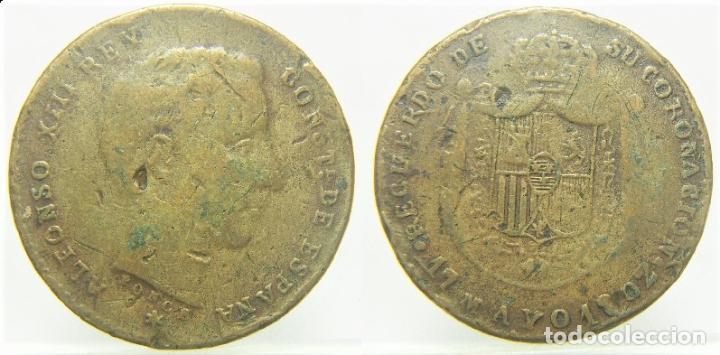 ALFONSO XIII RECUERDO DE LA CORONACIÓN. 17 MAYO 1902 (Numismática - España Modernas y Contemporáneas - Locales y Fichas Dinerarias y Comerciales)