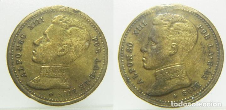 ALFONSO XIII FICHA A IDENTIFICAR 23 MM (Numismática - España Modernas y Contemporáneas - Locales y Fichas Dinerarias y Comerciales)