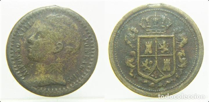 ALFONSO XIII FICHA A IDENTIFICAR 20 MM (Numismática - España Modernas y Contemporáneas - Locales y Fichas Dinerarias y Comerciales)