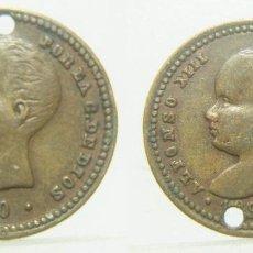 Monedas locales: FICHA A IDENTIFICAR ALFONSO XIII POR LA G. DE DIOS 1890. 17 MM. Lote 257376065