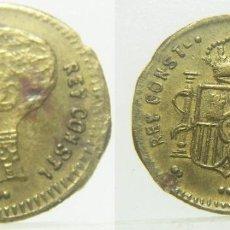 Monedas locales: ALFONSO XII FICHA O JETÓN A IDENTIFICAR 16 MM. Lote 257376290