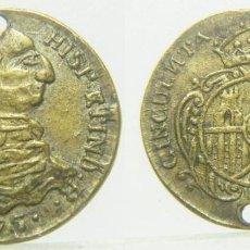 Monedas locales: FICHA O JETON A IDENTIFICAR CARLOS III 50 CENTIMOS 1875 16 MM. Lote 257376790