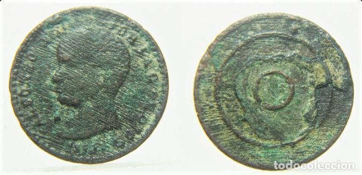 FICHA O JETON A IDENTIFICAR ALFONSO XIII 14 MM (Numismática - España Modernas y Contemporáneas - Locales y Fichas Dinerarias y Comerciales)