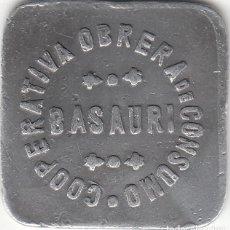 Monedas locales: FICHA: 50 CENTIMOS CARNE - BASAURI ( VIZCAYA ) COOPERATIVA OBRERA DE CONSUMO. Lote 257925825