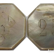 "Monedas locales: FICHA CASINO NACAR, VALOR 25, INICIALES ""CP"", NUMERADA. Lote 257958370"
