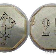 "Monedas locales: FICHA CASINO NACAR, VALOR 25, INICIALES ""CP"", NUMERADA. Lote 257958870"
