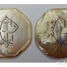 """Monedas locales: LOTE FICHAS CASINO NACAR, VALOR 25, INICIALES """"CP"""", NUMERADAS. Lote 257959425"""