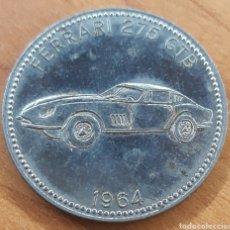 Monedas locales: MONEDA TOKEN SHELL FICHA TÉCNICA FERRARI 275 GTB 1964. Lote 260306480