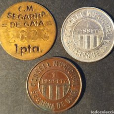Monedas locales: RGH9908-10 CONSELL MUNICIPAL - SEGARRA DE GAIÀ - SERIE COMPLETA. Lote 261997635