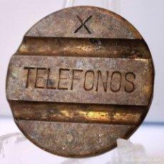 Monedas locales: ⚜️ FICHA TELÉFONOS X. 21MM. ESPAÑA. AC676. Lote 262469020