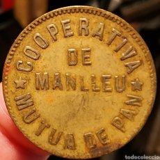 Monedas locales: AL2935 - COOPERATIVA - MÚTUA DE PAN - MANLLEU - 10 CÉNTIMOS. Lote 262469230