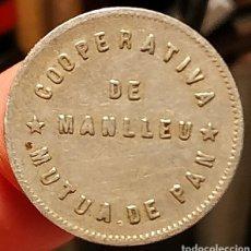 Monedas locales: AL2937 - COOPERATIVA - MÚTUA DE PAN - MANLLEU - 1 PESETA. Lote 262469485
