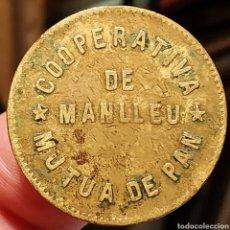 Monedas locales: AL2933V - COOPERATIVA MÚTUA DE PAN - MANLLEU - 5 CÉNTIMOS. Lote 262469890