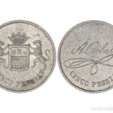 Monedas locales: FICHAS COOPERATIVAS Y PROPAGANDA, FICHA CASINO 5 PESETAS, A. CABELLO. LOGROÑO. Lote 262523050
