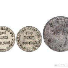 Monedas locales: FICHAS COOPERATIVAS Y PROPAGANDA, LOTE 3 FICHAS 1 (2) Y 5 PESETAS, COOPERATIVA CASA DEL POBLE. TOREL. Lote 262523125