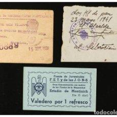 Monedas locales: FICHAS COOPERATIVAS Y PROPAGANDA, LOTE 3 VALES. Lote 262523140