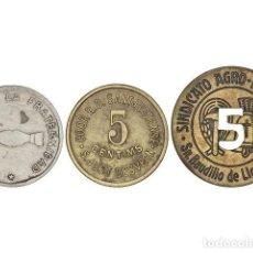 Monedas locales: FICHAS COOPERATIVAS Y PROPAGANDA, LOTE 3 FICHAS. Lote 262523145