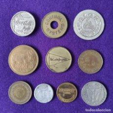 Monedas locales: 10 FICHAS DIFERENTES. CASI TODAS ESPAÑOLAS. ALGUNA RARA. DIVERSAS EPOCAS.. Lote 262587400