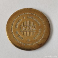 Monedas locales: FICHA MONEDA DE LEJONA. COOP DE OBREROS Y EMPLEADOS CATOLICOS. 100 PTAS. LATON. ORIGINAL.. Lote 262907390